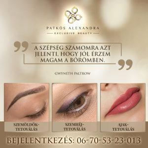 Patkós Alexandra Exclusive Beauty sminktetoválás és szemöldöktetoválás