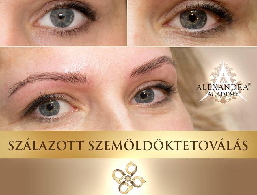 Patkós Alexandra Exclusive Beauty szálazott szemöldöktetoválás