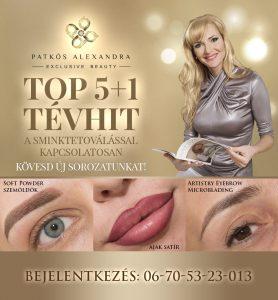 Patkós Alexandra Exclusive Beauty tévhitek a sminktetoválásról